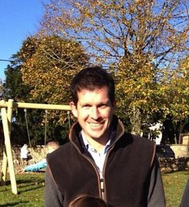 A smiling Tim Henman at the opening of Combe play park